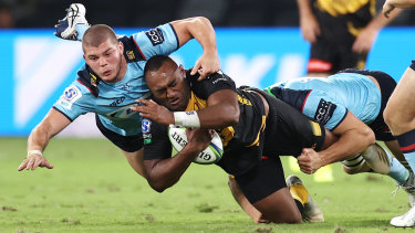 Carlo Tizzano has been a rare bright point for the Waratahs in their winless start to the Super Rugby AU season.