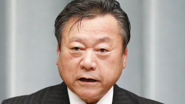 Japan's Olympic Minister Yoshitaka Sakurada.