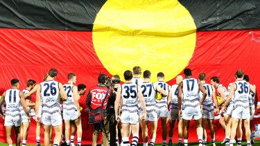 The AFL ceased using the Aboriginal flag in a principled stance to force freer access to the flag for all Indigenous groups.