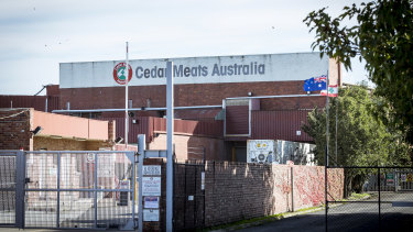 The Cedar Meats plant, where Victoria's biggest COVID-19 cluster emerged.
