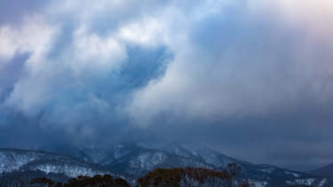 Heavy snow cover at Dinner Plain and Mount Hotham on Tuesday.