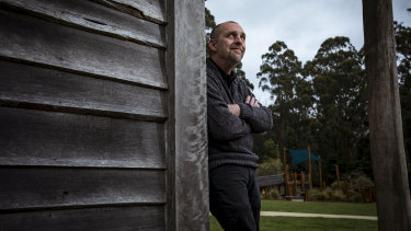 Leigh Dunscombe, the mayor of Murrindindi Shire, at home in his ward of Kinglake.