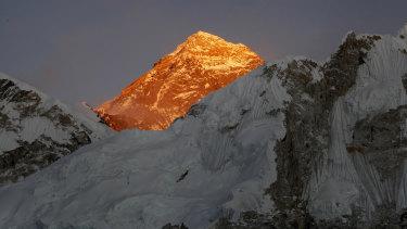 Standing tall: Mount Everest.