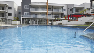 The residents' pool at One Kennedy.
