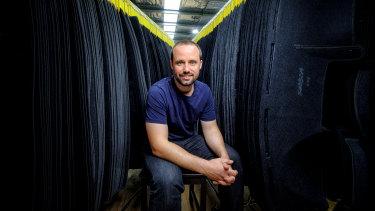 James Tinsley at the FitMyCar factory at Truganina.