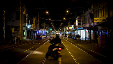 Melbourne's streets were still quiet despite the lifting of the curfew.