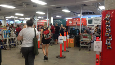 A Melbourne Bunnings employee says the stores are so full some staff fear coming to work due to the risk of catching COVID-19.