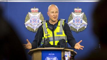 Senior Sergeant Andrew Brady confirms the Fawkner Park shooting was not random.