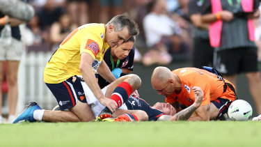 Roosters veteran Jake Friend was forced to retire after suffering multiple concussions - many caused when making a low tackle on the ball-carrier.