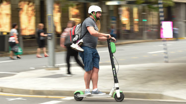 Electric scooters have proved popular in Brisbane and Adelaide.