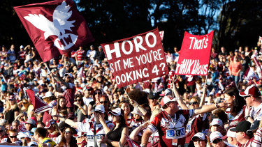 We Love You Too ... around 18,000 Manly fans will pack into Fortress Brookvale on Saturday night