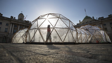 Michael Pinsky's Pollution Pods in London last year.