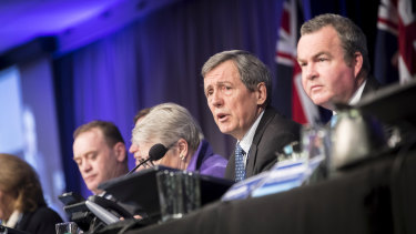 Robert Clark and colleagues at the 166th Victorian Liberal Party State Council, Moonee Valley.