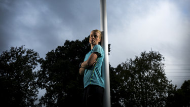 Competitive runner Nikki Lesberg was told by police to go home.