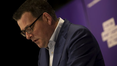 Premier Daniel Andrews, as he announced 317 new cases of COVID-19 were recorded in Victoria on Thursday.