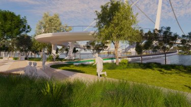 A St Lucia-to-West End bridge proposal  from Brisbane City Council.