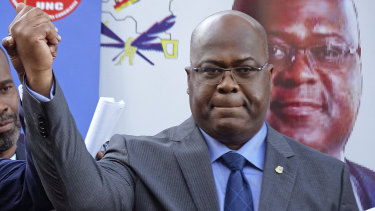 Felix Tshisekedi, of Congo's Union for Democracy and Social Progress opposition party, has been confirmed as the winner.