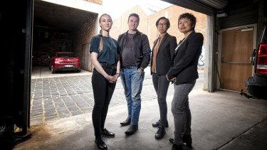 Danielle Storm,  Nick Travers , Sam Sempill and Yan Huang at their studio.