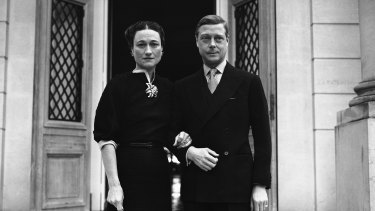 The Duke and Duchess of Windsor at the entrance of  the  Villa De La Croe in Cap Antibes in 1939.