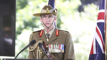 Chief of the Defence Force General Angus Campbell has come under fire over a speech given to cadets.