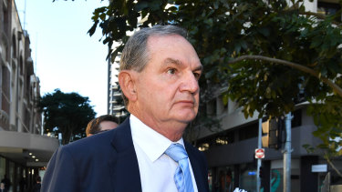 Former Ipswich mayor Paul Pisasale arrives at court on Thursday.