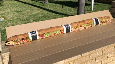 The Contimental is 1.2m long, has 13 ingredients and is not recommended for sole consumption.