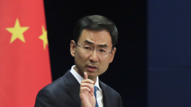 A hard line for the world: Chinese Foreign Ministry spokesman Geng Shuang.