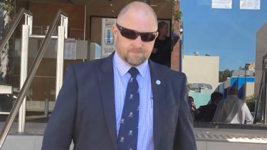 Detective Senior Sergeant Anthony Buxton leaves Toowoomba Courthouse on Thursday afternoon.