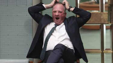 Barnaby Joyce in Parliament in February.