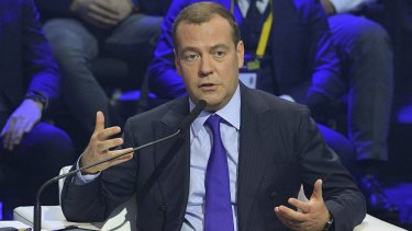 "Russian Prime Minister Dmitry Medvedev says anti-Russian ""hysteria"" has become chronic."