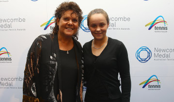 Evonne Goolagong Cawley and Ash Barty in 2010.