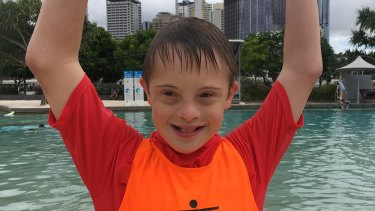 George Stevenson was having a blast learning about water safety on Monday.