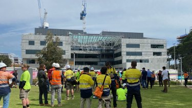 A person has died after a building under construction collapsed at Curtin University on Tuesday afternoon.