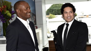 Drawcards: former international cricket stars Brian Lara and Sachin Tendulkar.