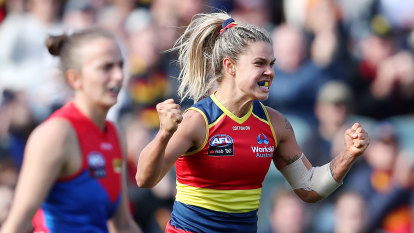 Crows into AFLW grand final against Lions, but will be without their skipper