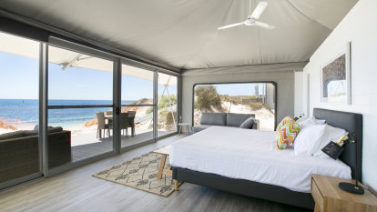 Road testing Rotto's $20m new glamping resort at Pinky Beach