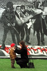 Murals in Derry's Bogside depict the victims of the British soldiers' rampage.