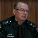 Chief Commissioner Graham Ashton testifying at the royal commission