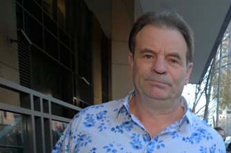 John Setka leaving the Magistrates Court in 2019 after his conviction