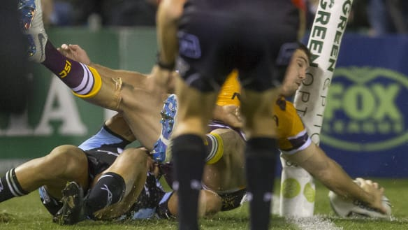 Magical Oates try sees Brisbane hold off the Sharks