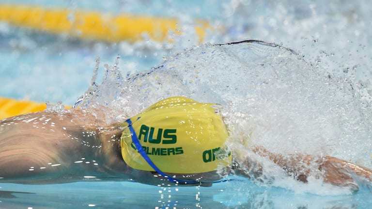 Storming home: Kyle Chalmers churns through the water in the 100m freestyle final.