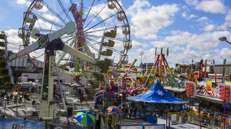 There are over 100 attractions in the Ekka's sideshow alley this year.