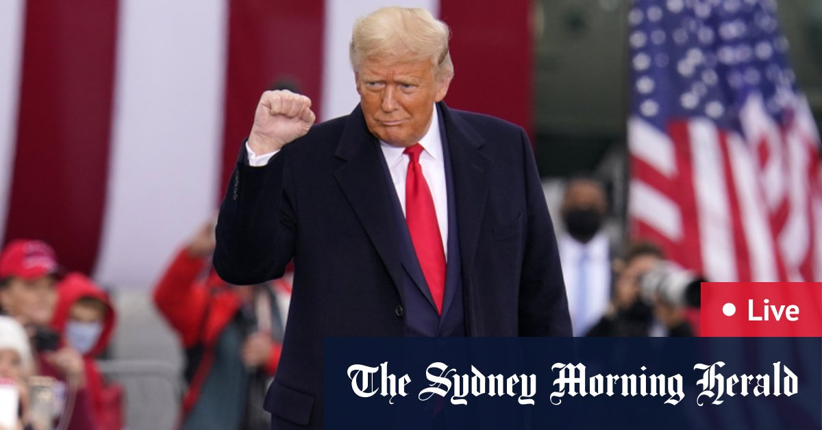 US election LIVE updates: Donald Trump holds rallies in Michigan Wisconsin while Joe Biden hits Georgia as third coronavirus wave continues to sweep nation – The Sydney Morning Herald