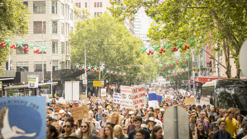 Thousands flock to second climate change rally in Melbourne - Sydney Morning Herald image