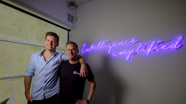 QSIC co-founders Matt Elsley and Nick Larkins at their office in Abbotsford.