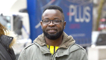 Felix Ngole arrives at court in London, where he challenged a ruling that he was lawfully removed from a Sheffield social work course after being accused of posting comments about homosexuals and bisexuals on a Facebook page.