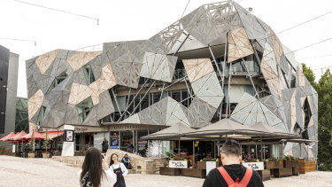The Yarra building at Federation Square, proposed for demolition to make way for Apple.
