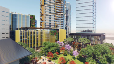 An artist's impression of the proposed Wattle Lane campus in Blacktown.