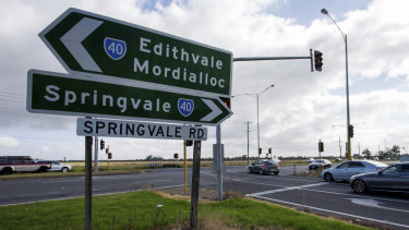The Mordialloc freeway will connect motorists from the Mornington Peninsula Freeway to the Dingley bypass.