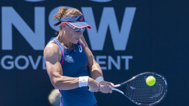 Exit: Sam Stosur fell to Swiss rival Timea Bacsinszky in three sets on Wednesday.